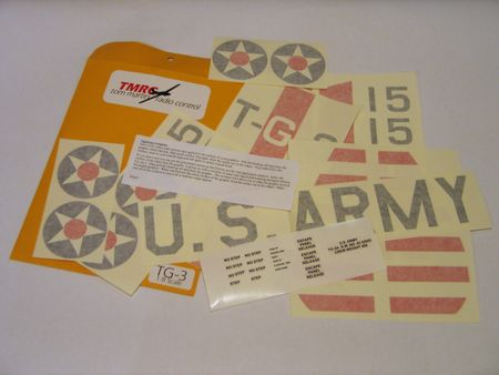 TMRC TG-3A Decal Set