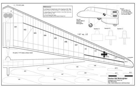 Horten IIIb sheet 1