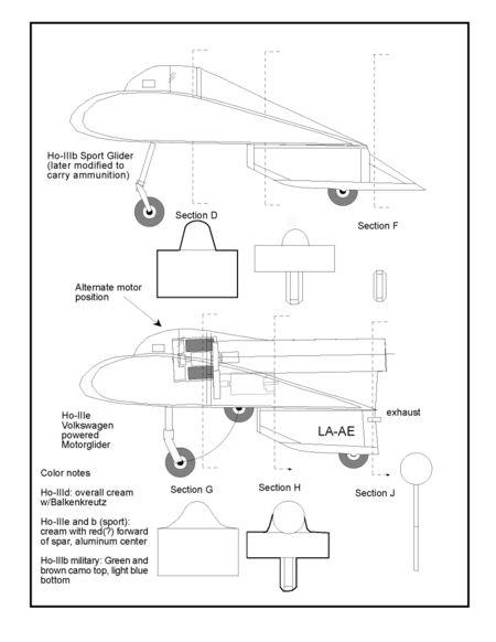 Horten IIIb sheet 2