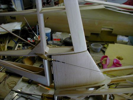 Bowlus SP1 rudder rigging