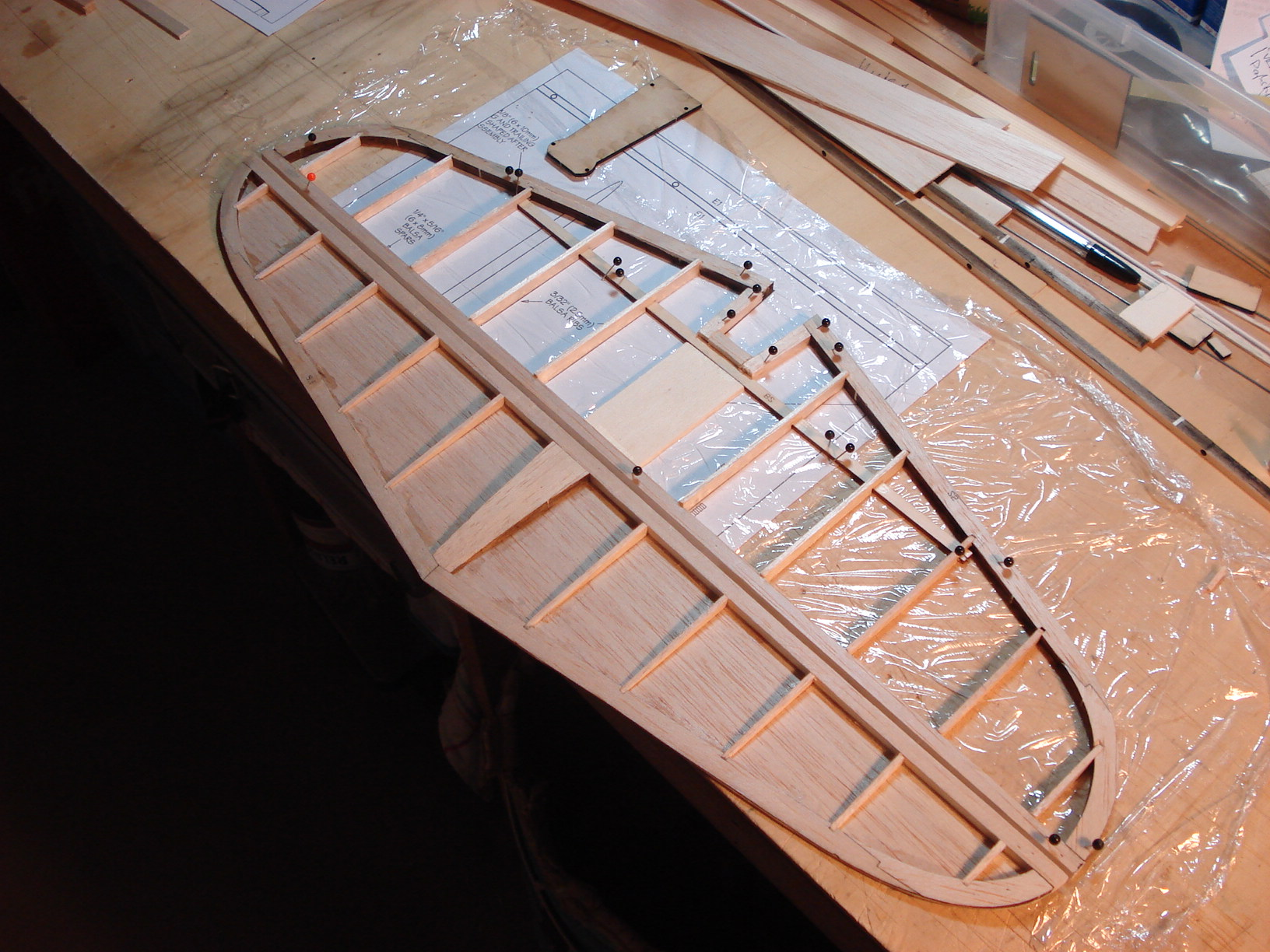 Tail, wing rod joiner box and the fuselage started… - Herbert ...